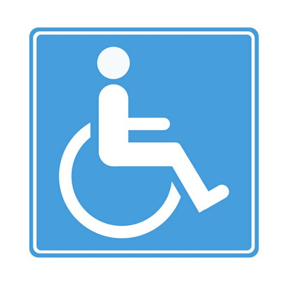 Autoaufkleber Mit Rollstuhl Symbol