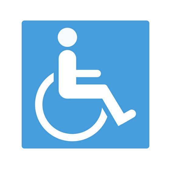 Rollstuhlzeichen Behindertenfahrzeug