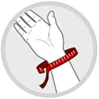Handgelenk-Umfang messen